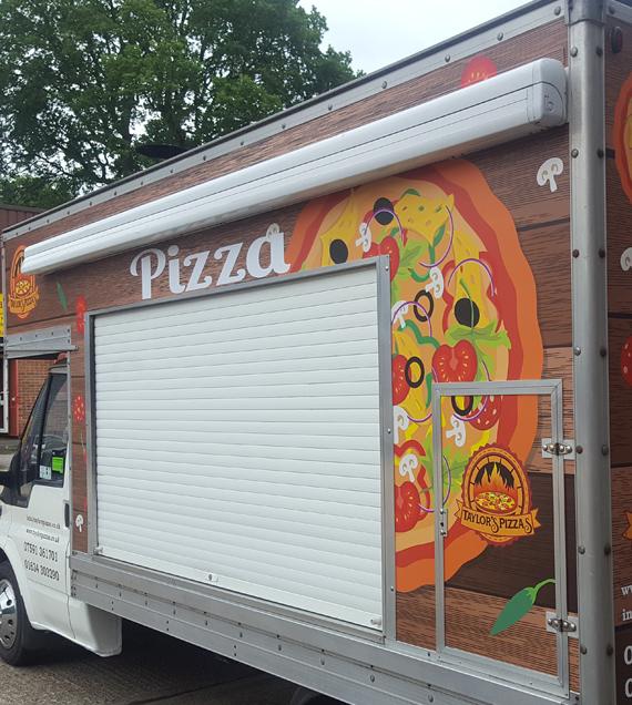 Pizza wagon full wrap kent