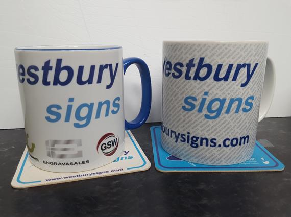 Promotional branded mugs